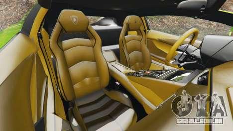 GTA 5 Lamborghini Aventador LP700-4 v1.0 frente vista lateral direita