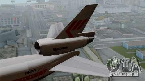 DC-10-30 Martinair para GTA San Andreas traseira esquerda vista