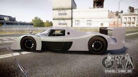 Toyota GT-One TS020 black spoiler para GTA 4 esquerda vista
