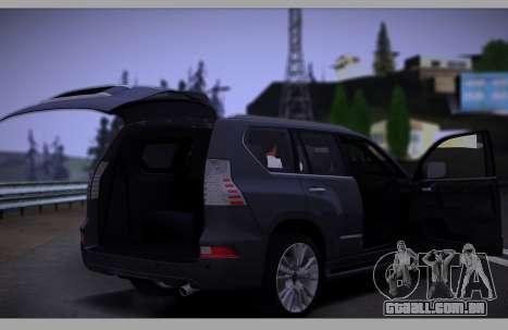 Lexus GX460 2014 para GTA San Andreas vista superior