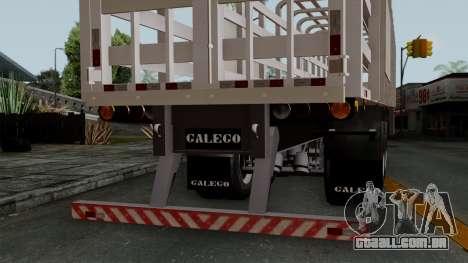 Trailer Rejas Gas para GTA San Andreas vista direita