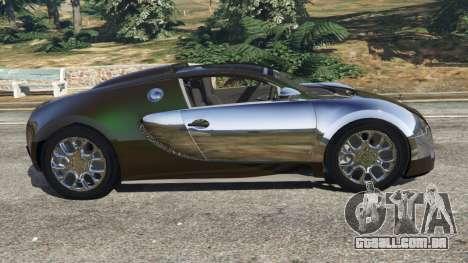 GTA 5 Bugatti Veyron Grand Sport v3.0 vista lateral esquerda