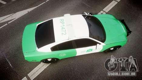 Dodge Charger Carabineros de Chile [ELS] para GTA 4 vista direita