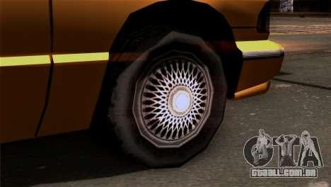 Taxi Kuruma 0.9 para GTA San Andreas traseira esquerda vista