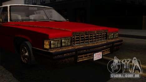 GTA 5 Albany Emperor Worn IVF para GTA San Andreas vista traseira