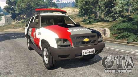 Chevrolet Blazer Sao Paulo State Police para GTA 5