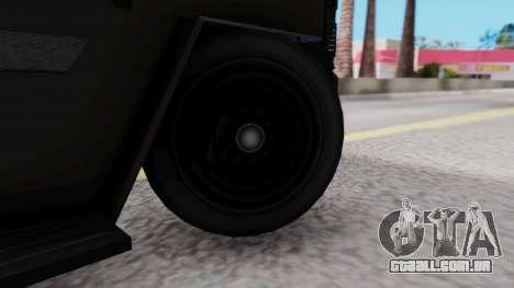 GTA 5 Enforcer Raccoon City Police Type 1 para GTA San Andreas traseira esquerda vista