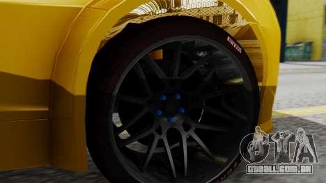 Chevrolet Camaro GT para GTA San Andreas traseira esquerda vista