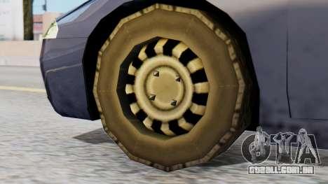 Mitsubishi Eclipse GSX SA Style para GTA San Andreas traseira esquerda vista