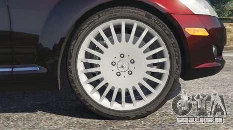 GTA 5 Mercedes-Benz S500 W221 v0.4 [Alpha] traseira direita vista lateral