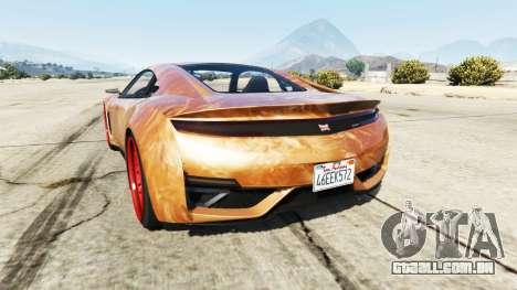 GTA 5 Dinka Jester (Racecar) Chocolate traseira vista lateral esquerda
