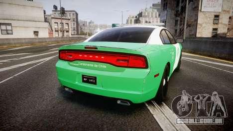 Dodge Charger Carabineros de Chile [ELS] para GTA 4 traseira esquerda vista