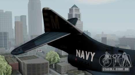 Grumman F9F-5 Phanter para GTA San Andreas traseira esquerda vista