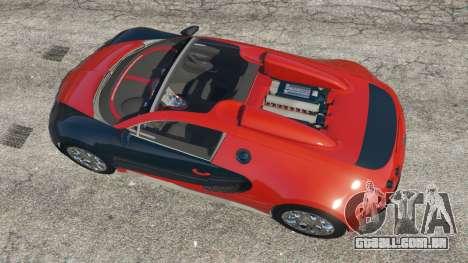 Bugatti Veyron Grand Sport v3.3 para GTA 5