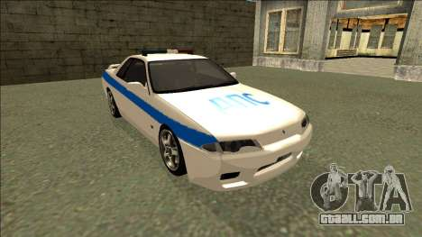 Nissan Skyline R32 Russian Police para GTA San Andreas vista traseira