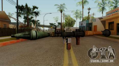 Original HD Rocket Launcher para GTA San Andreas