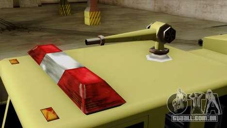 SAFD SAX Airport Engine para GTA San Andreas vista traseira