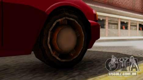 GTA 3 Kuruma SA Style para GTA San Andreas traseira esquerda vista