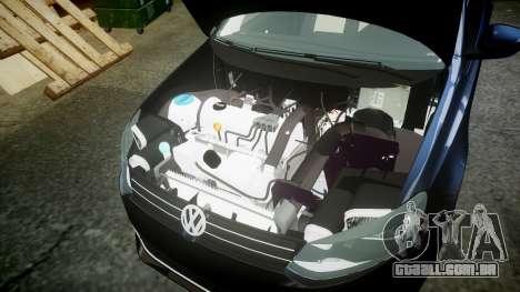 Volkswagen Polo para GTA 4 vista de volta