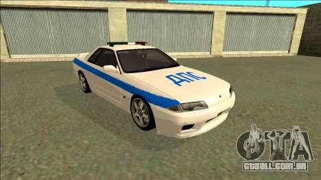 Nissan Skyline R32 Russian Police para GTA San Andreas esquerda vista