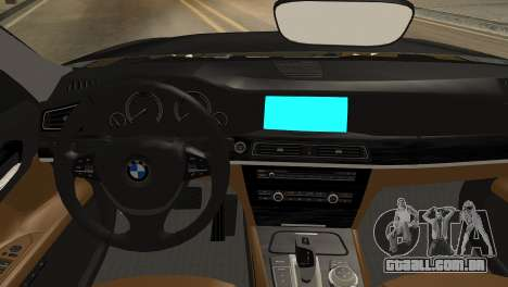 BMW 750Li 2012 para GTA San Andreas vista direita