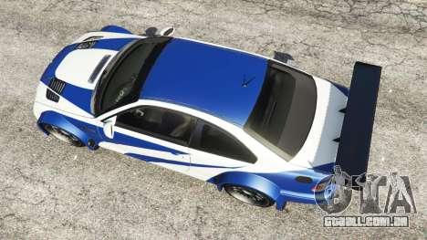 BMW M3 GTR E46 Most Wanted para GTA 5