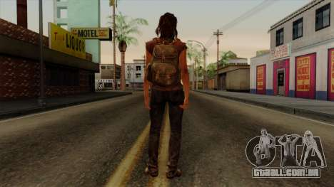 Tess from The Last of Us para GTA San Andreas terceira tela
