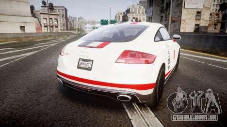 Audi TT RS 2010 Shelley para GTA 4 traseira esquerda vista
