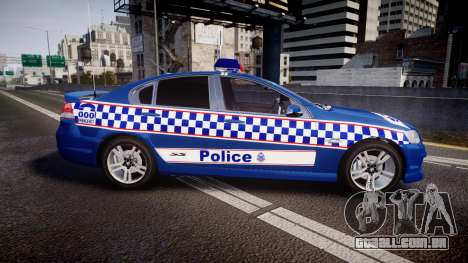 Holden VE Commodore SS Highway Patrol [ELS] v2.0 para GTA 4 esquerda vista