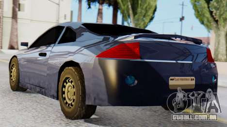 Mitsubishi Eclipse GSX SA Style para GTA San Andreas esquerda vista