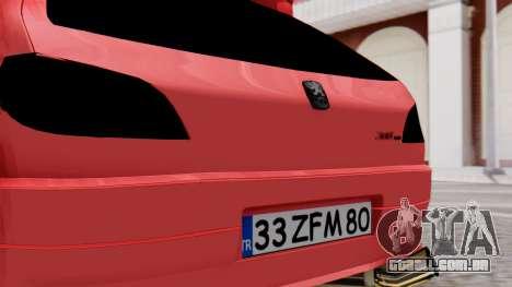 Peugeot 306 GTI para GTA San Andreas vista traseira
