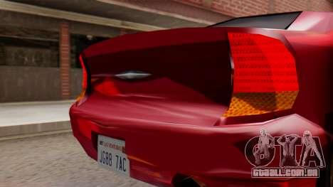 GTA 3 Kuruma SA Style para GTA San Andreas vista direita
