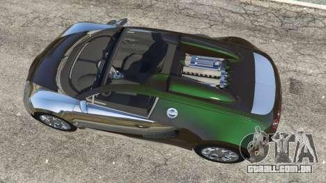 GTA 5 Bugatti Veyron Grand Sport v3.0 voltar vista