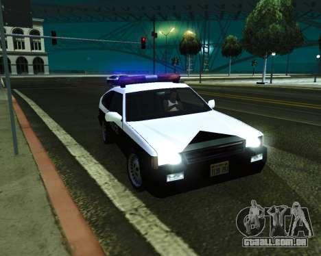 Japanese Police Car Blista para GTA San Andreas vista direita