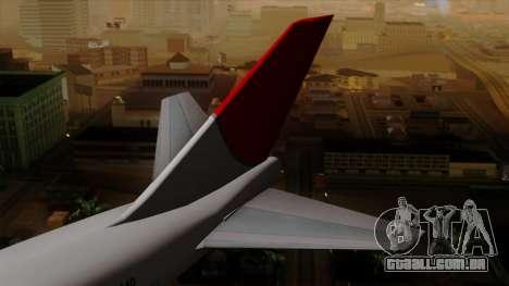 Boeing 747 JAL para GTA San Andreas traseira esquerda vista