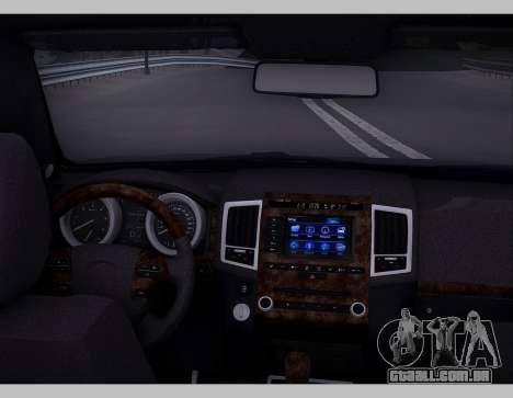 Lexus GX460 2014 para GTA San Andreas vista interior