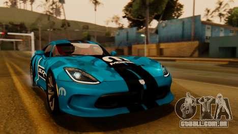 Dodge Viper SRT GTS 2013 IVF (HQ PJ) LQ Dirt para GTA San Andreas vista inferior
