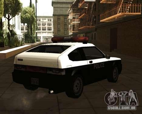 Japanese Police Car Blista para GTA San Andreas esquerda vista