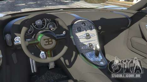 GTA 5 Bugatti Veyron Grand Sport v3.0 traseira direita vista lateral