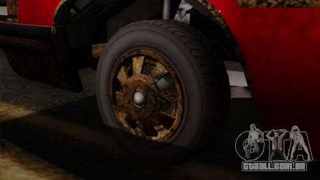 GTA 5 Albany Emperor Worn IVF para GTA San Andreas traseira esquerda vista
