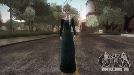 Elsa Frozen HQ Dress para GTA San Andreas segunda tela