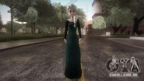 Elsa Frozen HQ Dress para GTA San Andreas segunda tela