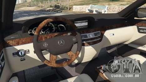GTA 5 Mercedes-Benz S500 W221 v0.4 [Alpha] vista lateral direita