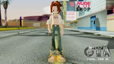 Yoh Asakura para GTA San Andreas segunda tela