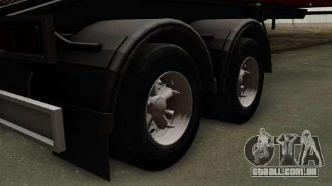 Trailer Dumper para GTA San Andreas traseira esquerda vista
