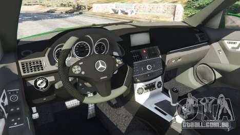 GTA 5 Mercedes-Benz C63 (W204) AMG vista lateral direita