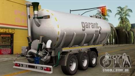 Trailer Kotte Garant para GTA San Andreas esquerda vista