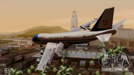 Boeing 747 Air Force One para GTA San Andreas esquerda vista
