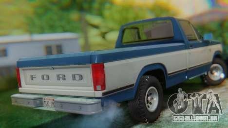 Ford F-150 1984 Final para GTA San Andreas traseira esquerda vista