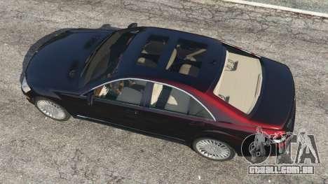 GTA 5 Mercedes-Benz S500 W221 v0.4 [Alpha] voltar vista